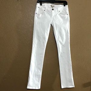 CAbi Jeans  White Indie Style 752 Straight Leg